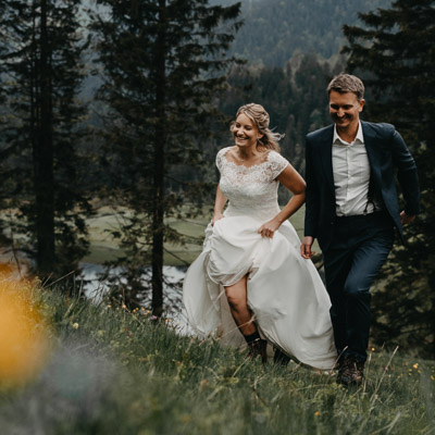 After Wedding Shooting in den Bergen Spitzingsee von Stories by Toni